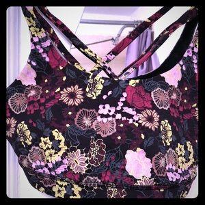 Lululemon floral design energy bra